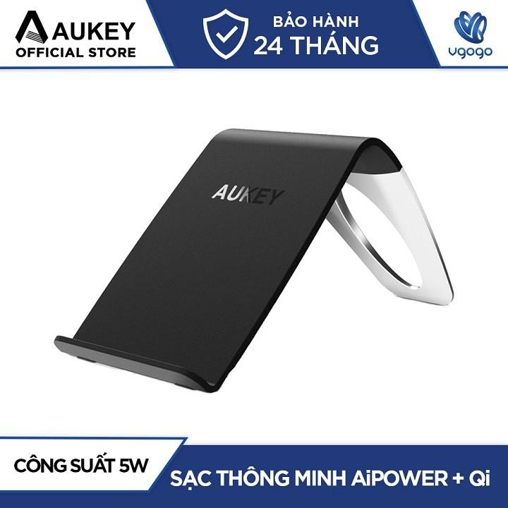 Đế Sạc Không Dây Chuẩn Qi Aukey LC-C1 Công Suất 5W Dùng Cho iPhone 8 & Samsung S7 Trở Lên