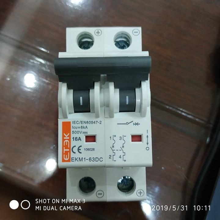 Aptomat CB DC 500VDC ETEK 16A 32A chuyên dụng điện mặt trời
