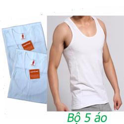 Bộ 05 áo thun 3 lỗ nam thời trang - hàng Việt Nam