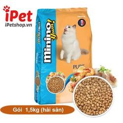 Thức Ăn Cho Mèo Hạt Khô Minino Yum Vị Hải Sản  1.5kg - iPet