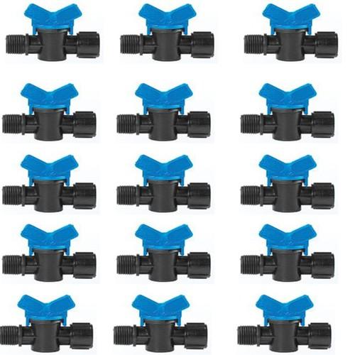 Bộ 15 van chỉnh áp nước cho béc tưới cây ren ngoài, trong phy 21