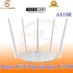 Router WiFi ToToLink A810R băng tần kép AC1200 5 râu chính hãng - DGW phân phối