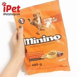 Thức Ăn Cho Mèo Hạt Khô Vị Cá  Ngừ Minino  480g - iPet