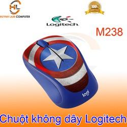Chuột không dây Logitech M238 Captain America chính hãng - DGW phân phối