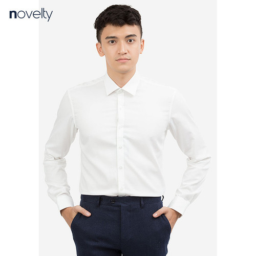 Áo sơ mi novelty regular fit màu trắng nsmminmbcr171106d
