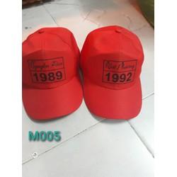 Mũ in năm sinh đủ màu