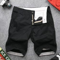 Quần shorts kaki nam đen QQ134 Muidoi