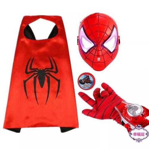Bộ áo choàng mặt nạ găng tay siêu anh hùng người nhện - Đồ chơi hóa trang Spider Man