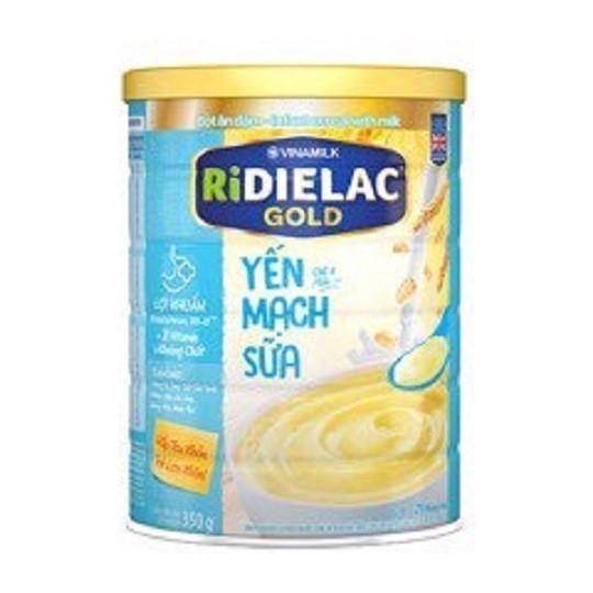 Bột ăn dặm RIDIELAC GOLD Yến mạch sữa - Hộp thiếc 350g