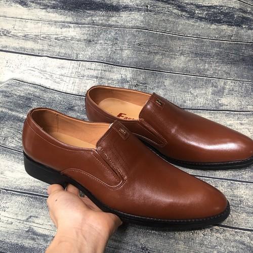 Giày tây nam da bò thật bảo hành da 1 năm