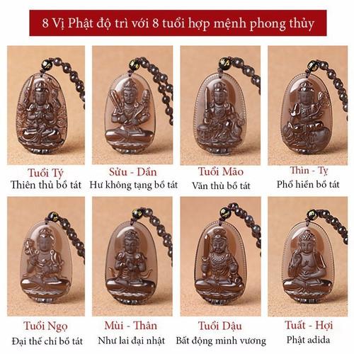 [SIÊU SALE] Dây Chuyền Mặt Phật Độ Mệnh Bình An - Mua Theo Tuổi - V38