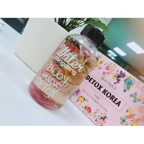 Set 30 gói trà hoa quả giảm cân detox korea + tặng kèm bình nhựa pongdang cao câp