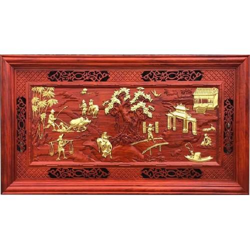 tranh đồng quê gỗ hương - 11334628 , 18995839 , 15_18995839 , 4699000 , tranh-dong-que-go-huong-15_18995839 , sendo.vn , tranh đồng quê gỗ hương