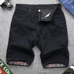 Quần short jeans nam đen vải dày đẹp QQ169. MĐ | Quần short nam| Quần short jeans