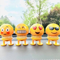Combo 4 hình Emoji lò xo lắc đầu vui nhộn Thú nhún lò xo Đồ chơi giảm stress , giảm căng thẳng