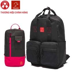 Balo Thời Trang Glado Daypack GDP005 - Đen - Tặng túi đeo chéo GEX002 màu ngẫu nhiên