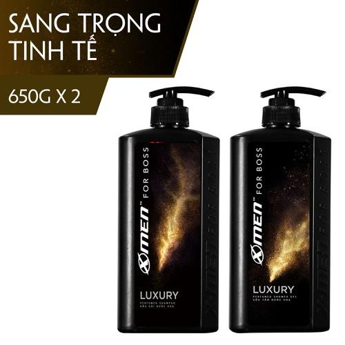 Bộ dầu gội nước hoa 650g + sữa tắm nước hoa 650g x-men for boss luxury - mùi hương sang trọng