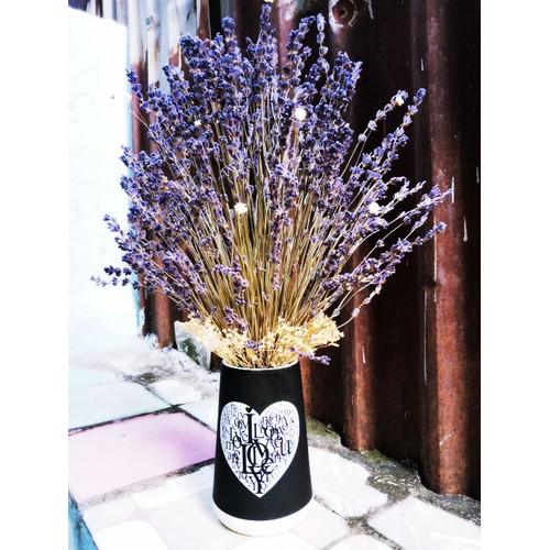 Lọ sứ hoa Lavender để trang trí phòng khách phòng ngủ