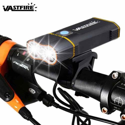 Đèn pha xe đạp sạc usb 2 pha VASTFIRE