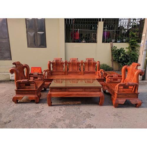 Bộ Tần Thủy Hoàng tay 12 gỗ hương đá