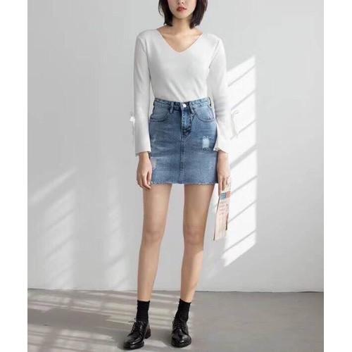 Chân váy jean điệu đà
