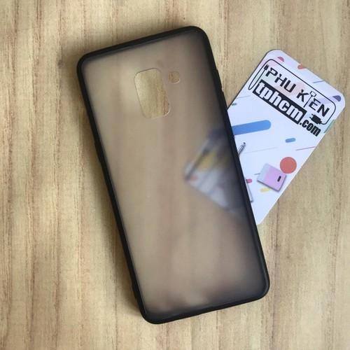 Ốp lưng Samsung A8 2018 Nhám viền Dẻo đen