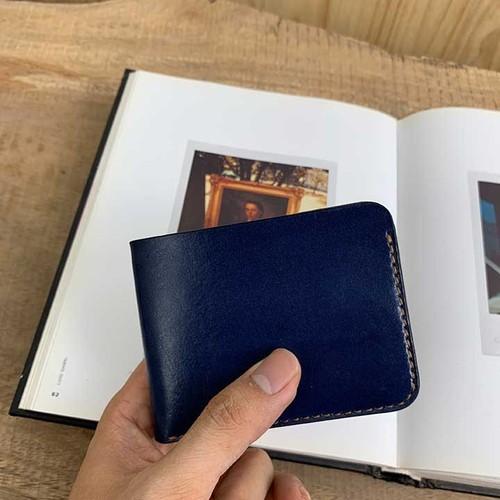 Bóp nam da bò - màu xanh navy - sản phẩm handmade DT367