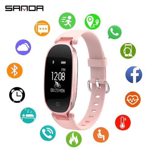 Vòng tay thông minh cho nữ SANDA S3 thiết bị đeo tay theo dõi sức khỏe, đồng hồ thông minh thể thao, chống nước, pin khoẻ DOC-SDS3H - 11700166 , 19005760 , 15_19005760 , 990000 , Vong-tay-thong-minh-cho-nu-SANDA-S3-thiet-bi-deo-tay-theo-doi-suc-khoe-dong-ho-thong-minh-the-thao-chong-nuoc-pin-khoe-DOC-SDS3H-15_19005760 , sendo.vn , Vòng tay thông minh cho nữ SANDA S3 thiết bị đeo ta