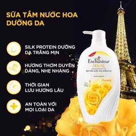 Combo 2 Sữa tắm nước hoa Enchanteur Charming nồng nàn duyên dáng mịn màng quyến rũ 650g - combo 2 sữa tắm