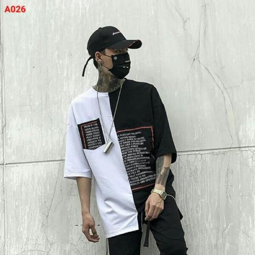 Áo thun nam trắng đen hiphop