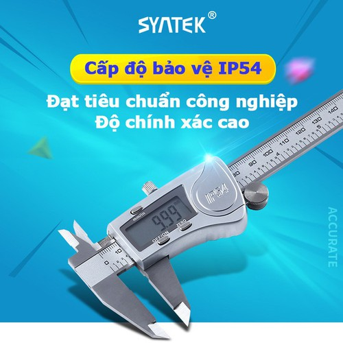 Thước kẹp điện tử thép không gỉ tiêu chuẩn công nghiệp IP54 độ chính xác cao - 11177499 , 19018535 , 15_19018535 , 419000 , Thuoc-kep-dien-tu-thep-khong-gi-tieu-chuan-cong-nghiep-IP54-do-chinh-xac-cao-15_19018535 , sendo.vn , Thước kẹp điện tử thép không gỉ tiêu chuẩn công nghiệp IP54 độ chính xác cao