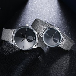 Đồng hồ nam nữ thời trang không số ĐỘC LẠ + Hộp đồng hồ