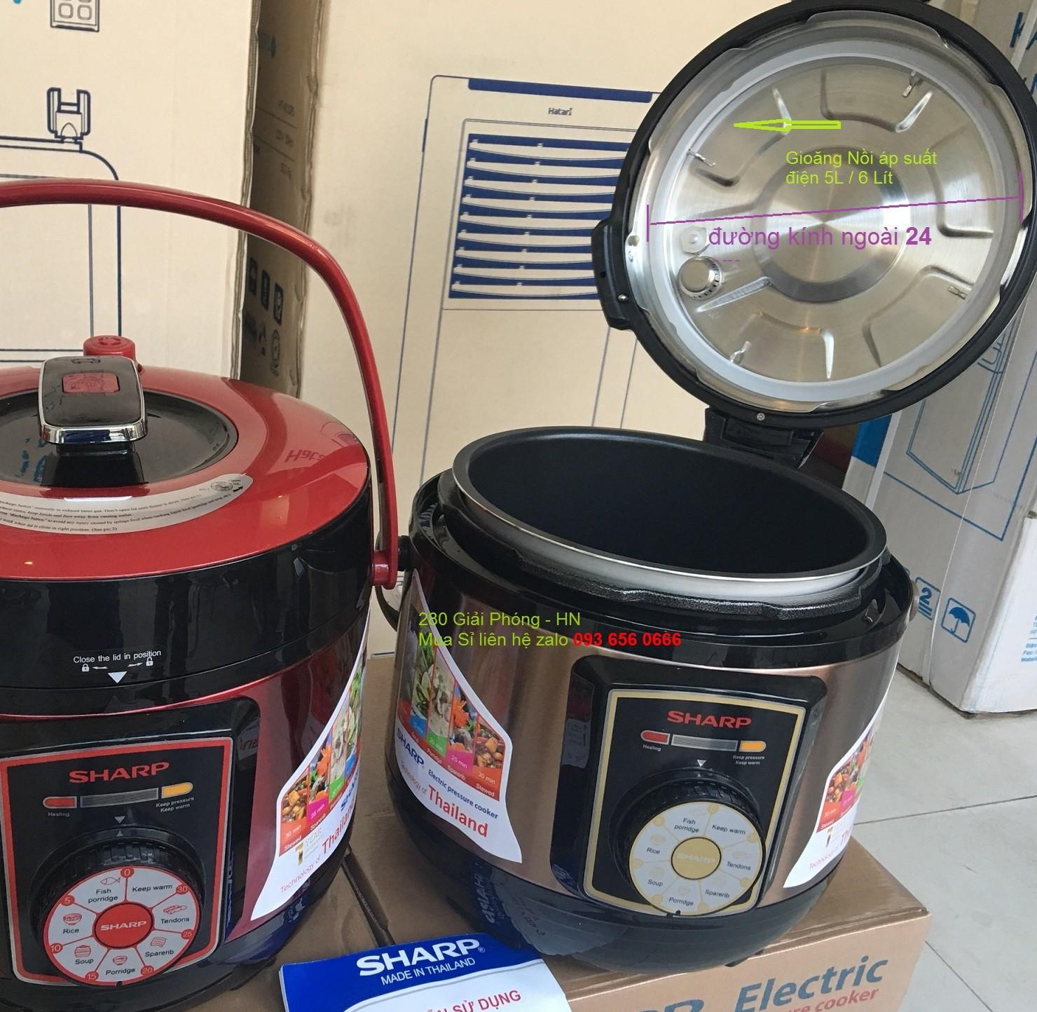 Bộ 2 cái gioăng nồi áp suất điện Sunhouse 5 lít 6 lít - 2gioangdien24
