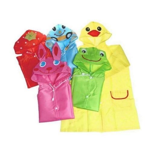 Áo mưa trẻ em có chấm bi không trong suốt