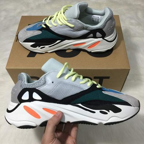 [Full Box & Tặng Tất - Vớ] Giày Thể Thao Sneaker Yeezy 700 V1 Wave Runner OG Xám Xanh