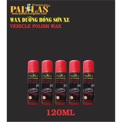 Chai xịt dưỡng bóng sơn và bóng da, làm đen nhựa nhám Pallas Wax 120ml