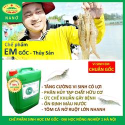 Chế phẩm EM gốc dùng cho Thủy Sản. Gây màu nước ao. Ức chế tảo độc