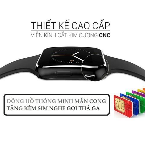 ĐỒNG HỒ THÔNG MINH MÀN HÌNH CONG X6 ĐẲNG CẤP TẶNG SIM VIETTEL