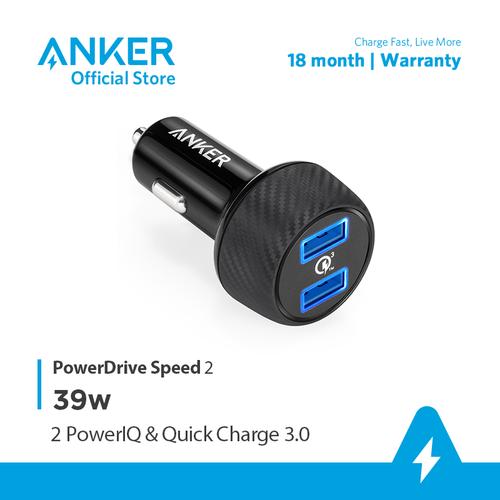 Sạc ô tô ANKER PowerDrive Speed 2 cổng 39w Quick Charge 3.0 - A2228 - 11719781 , 19036079 , 15_19036079 , 600000 , Sac-o-to-ANKER-PowerDrive-Speed-2-cong-39w-Quick-Charge-3.0-A2228-15_19036079 , sendo.vn , Sạc ô tô ANKER PowerDrive Speed 2 cổng 39w Quick Charge 3.0 - A2228