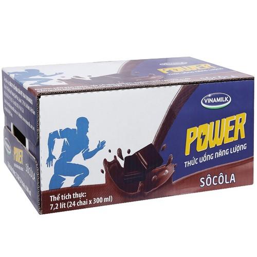 Thức uống năng lượng Vinamilk Power Sôcôla – Thùng 24 Chai 300 ml
