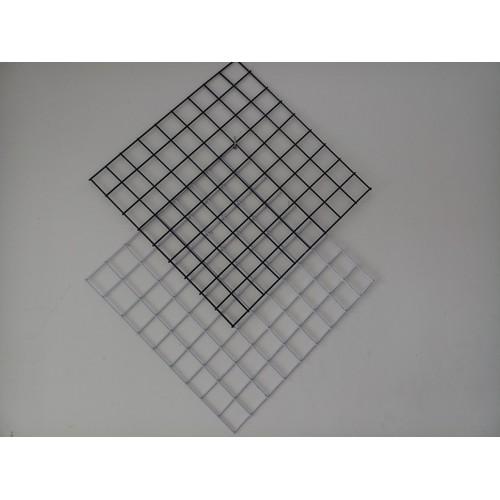 khung lưới trang trí 40x40cm cọng 3.5li, ô mắt 5cm, màu trắng hoặc đen