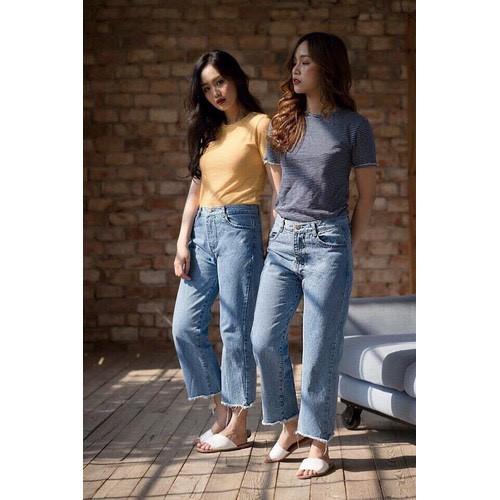 Quần jeans baggy nữ hiện đại - 11717928 , 19033131 , 15_19033131 , 135000 , Quan-jeans-baggy-nu-hien-dai-15_19033131 , sendo.vn , Quần jeans baggy nữ hiện đại