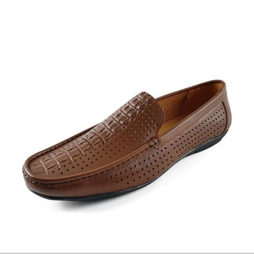 [BẢO HÀNH 1 NĂM ] Giày Lười,Giày Mọi,Nam Đục Lỗ Tia Laze Da Bò Nguyên Tấm, giày da nam, giày tây nam, giày mùa hè,giày nam đẹp , giày lười da nam.