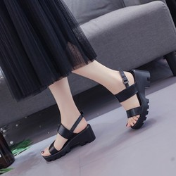 Giày sandal đế thô 2 quai 02 |Giày sandal đế thô nữ