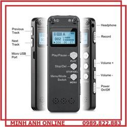 Máy Ghi Âm Chuyên Nghiệp GH-500 8GB - Vỏ kim loại cao cấp