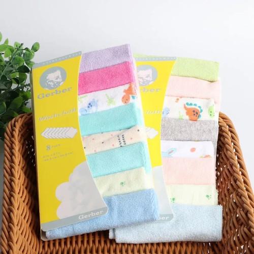 Sét 8 khăn mặt Gerber cho bé - 11731711 , 19054356 , 15_19054356 , 48000 , Set-8-khan-mat-Gerber-cho-be-15_19054356 , sendo.vn , Sét 8 khăn mặt Gerber cho bé