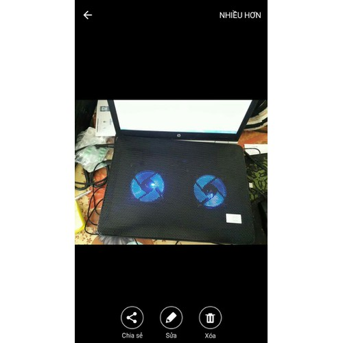 đế tản nhiệt K63  - làm mát laptop coa đèn led