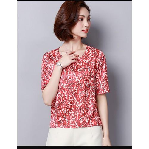 Áo kiểu nữ họa tiết lá 2A5196