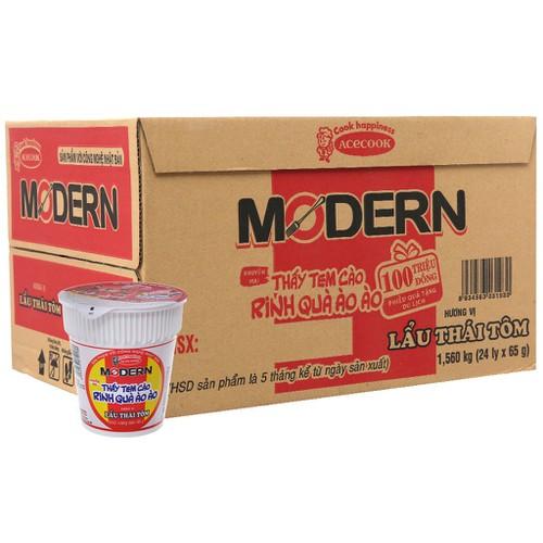 Thùng 24 ly Mì Modern lẩu Thái tôm 65g - 11738901 , 19064752 , 15_19064752 , 162000 , Thung-24-ly-Mi-Modern-lau-Thai-tom-65g-15_19064752 , sendo.vn , Thùng 24 ly Mì Modern lẩu Thái tôm 65g