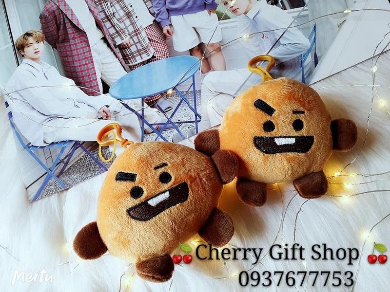 Combo 4 Móc Khóa Gấu Bông BT21- TaTa Shooky Chimmy Kooky 7